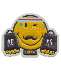 Libra Wink mustard leather patch