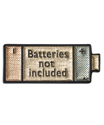 Batteries gold-tone leather patch
