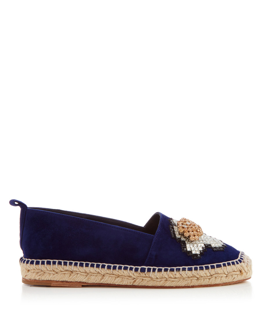 Women's Egg indigo slip-on espadrilles Sale - anya hindmarch
