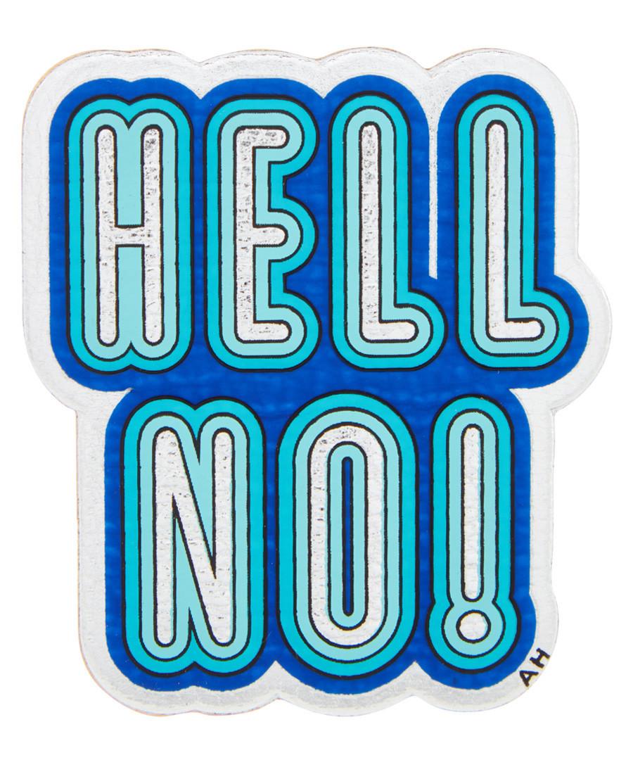 Hell No! blue goatskin patch Sale - anya hindmarch