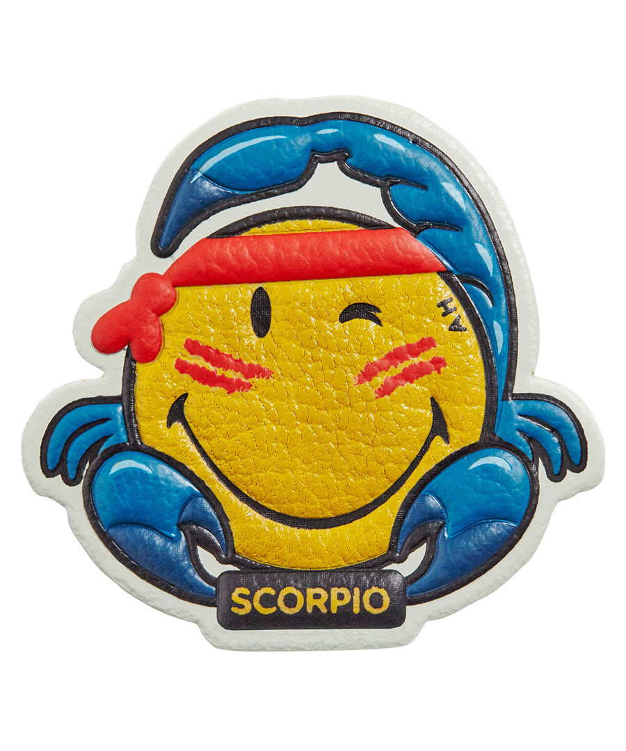 Scorpio Wink mustard leather patch Sale - anya hindmarch