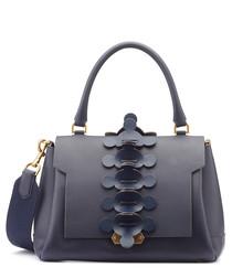 Apex Small indigo leather satchel