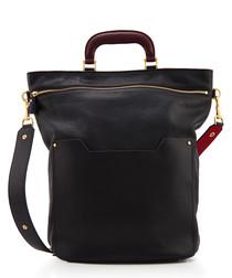 Orsett black leather shoulder bag