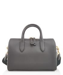 Vere Barrel slate leather grab bag