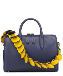 Vere Barrel indigo leather grab bag