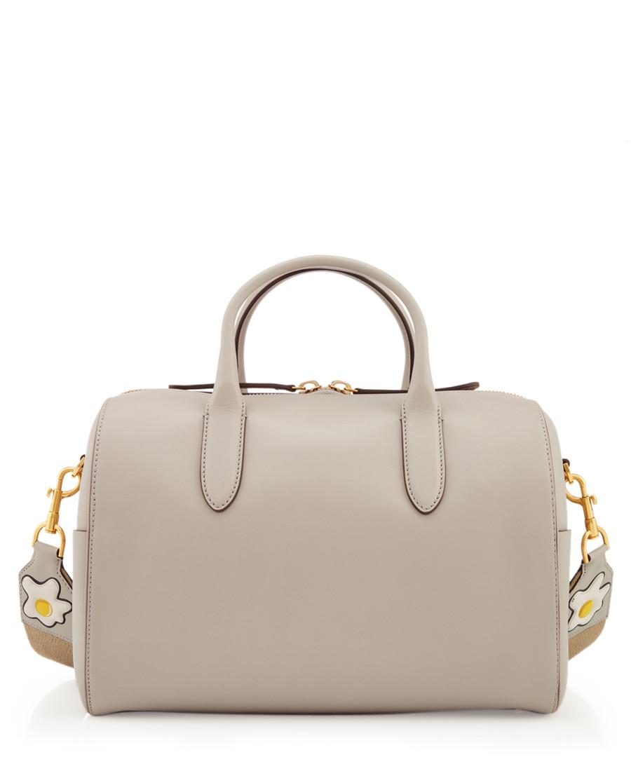 Egg Strap light slate leather grab bag Sale - anya hindmarch