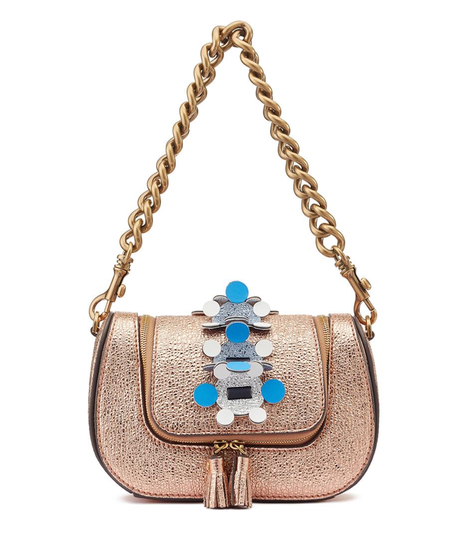 Radius metallic leather grab bag Sale - anya hindmarch