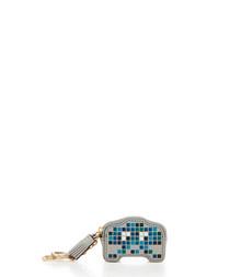 Pixel Robot blue goatskin coin purse