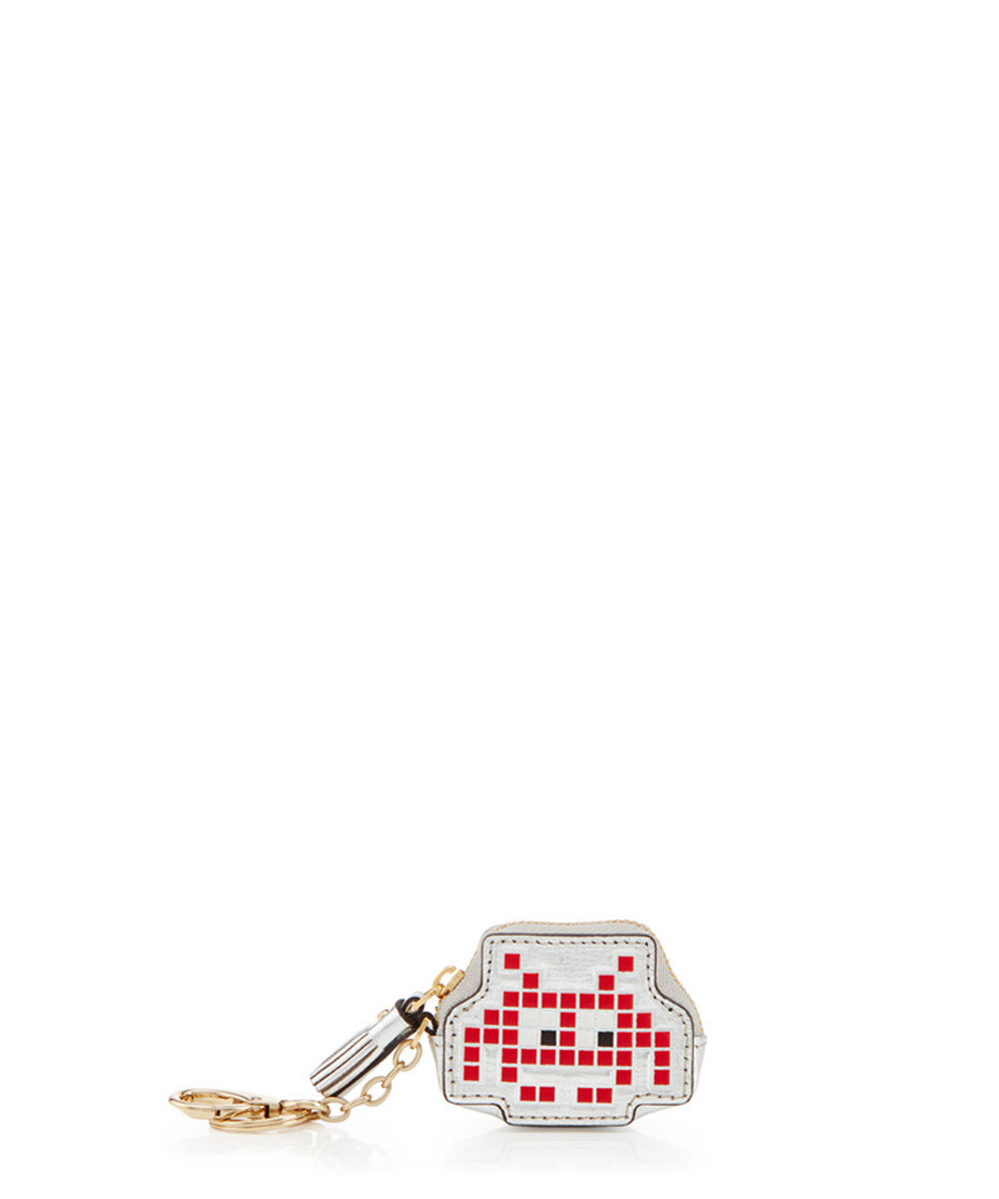 Space Invader red goatskin coin purse Sale - anya hindmarch