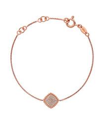 18kt rose gold-vermeil pendant bracelet