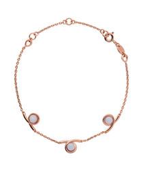 Serpentine rose gold vermeil bracelet