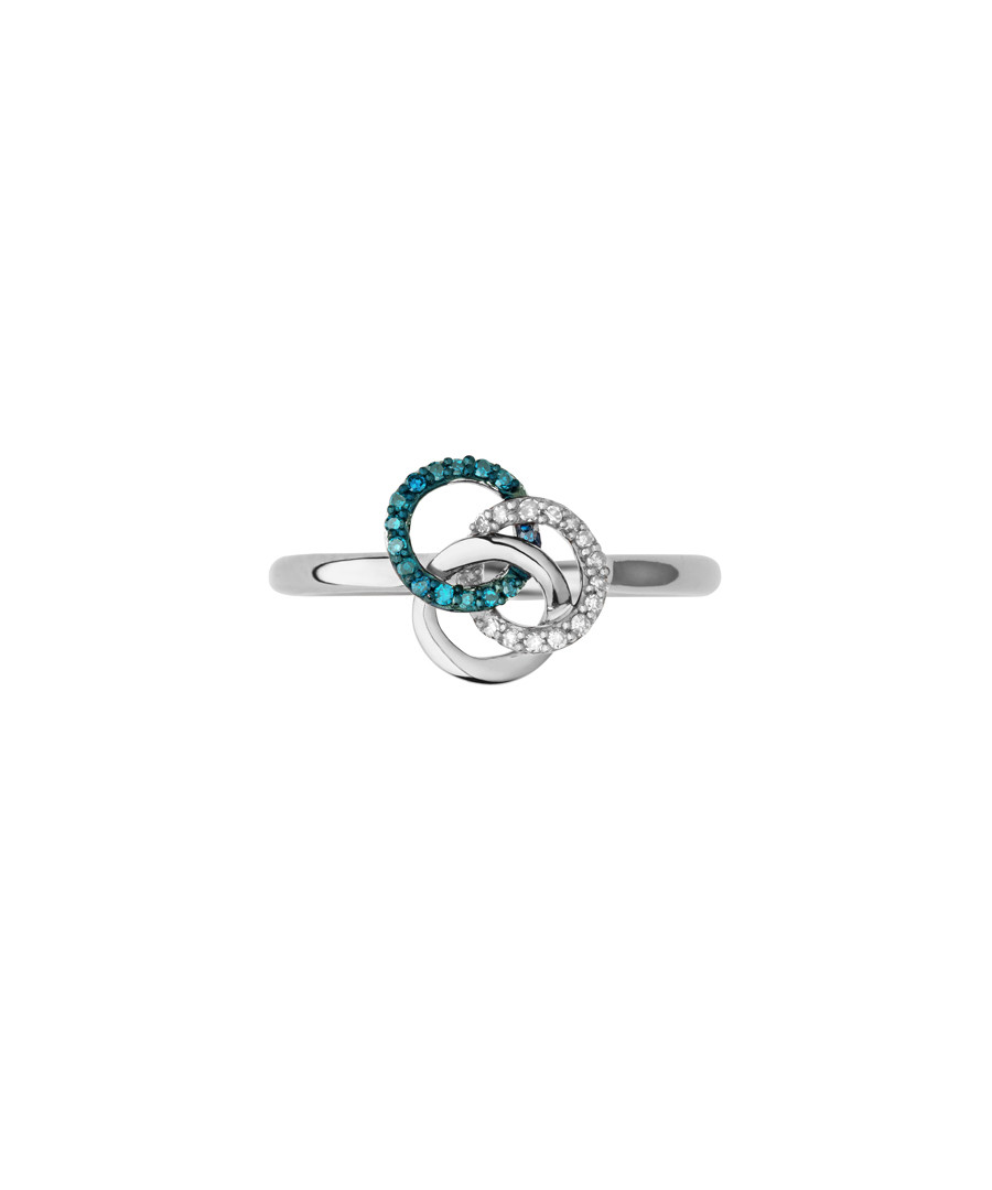 Blue crystal & sterling silver ring Sale - links of london