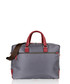 Wine leather & canvas satchel briefcase Sale - woodland leather Sale