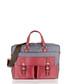 Wine leather & canvas satchel briefcase Sale - woodland leather Sale