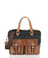 Brown & black leather briefcase Sale - woodland leather Sale