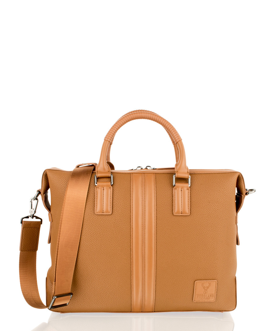Tan leather briefcase Sale - woodland leather