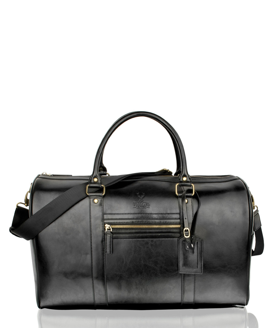 Black leather holdall Sale - woodland leathers