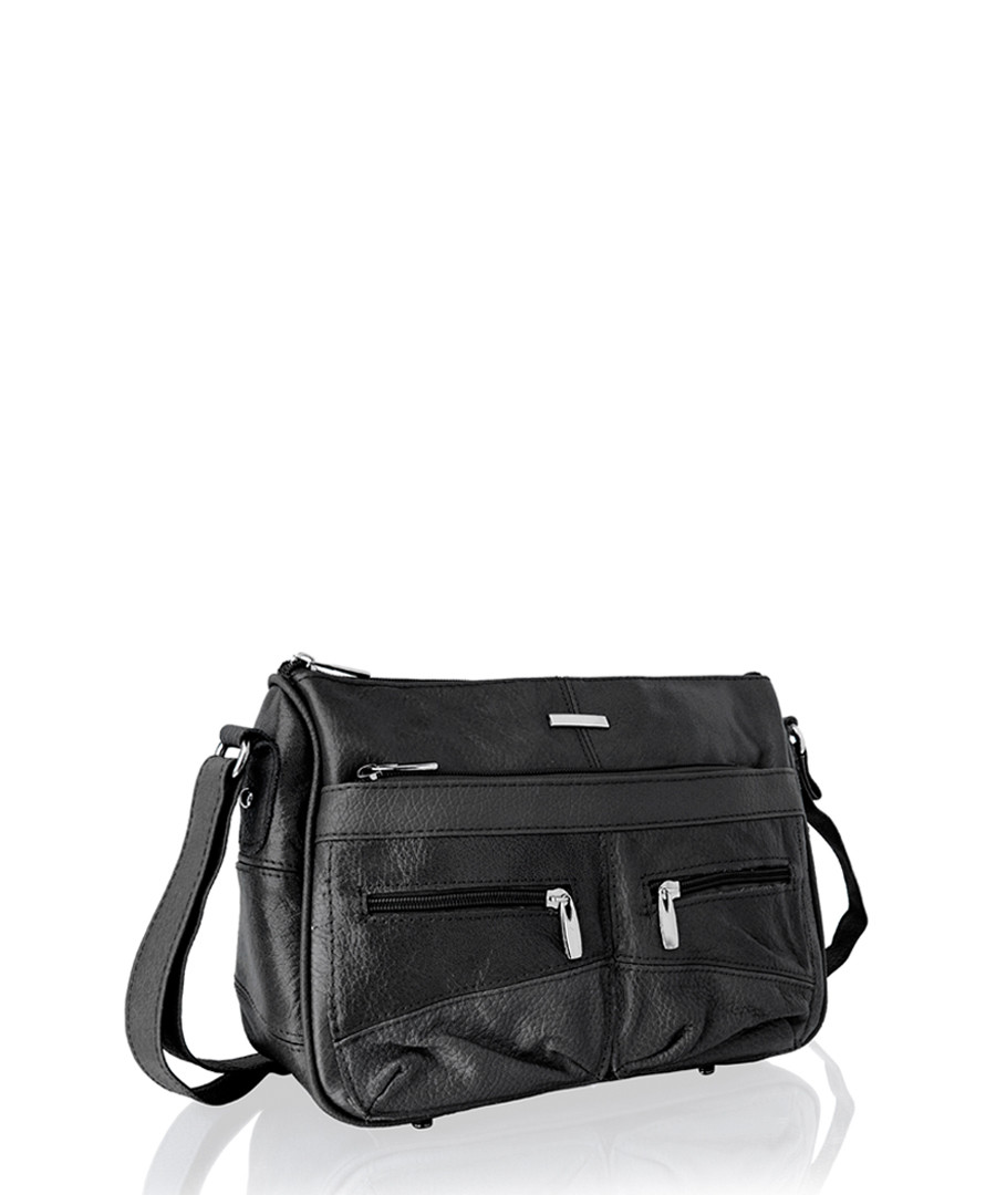 2f4aaf795b5b Black leather cross body bag Sale - lorenz
