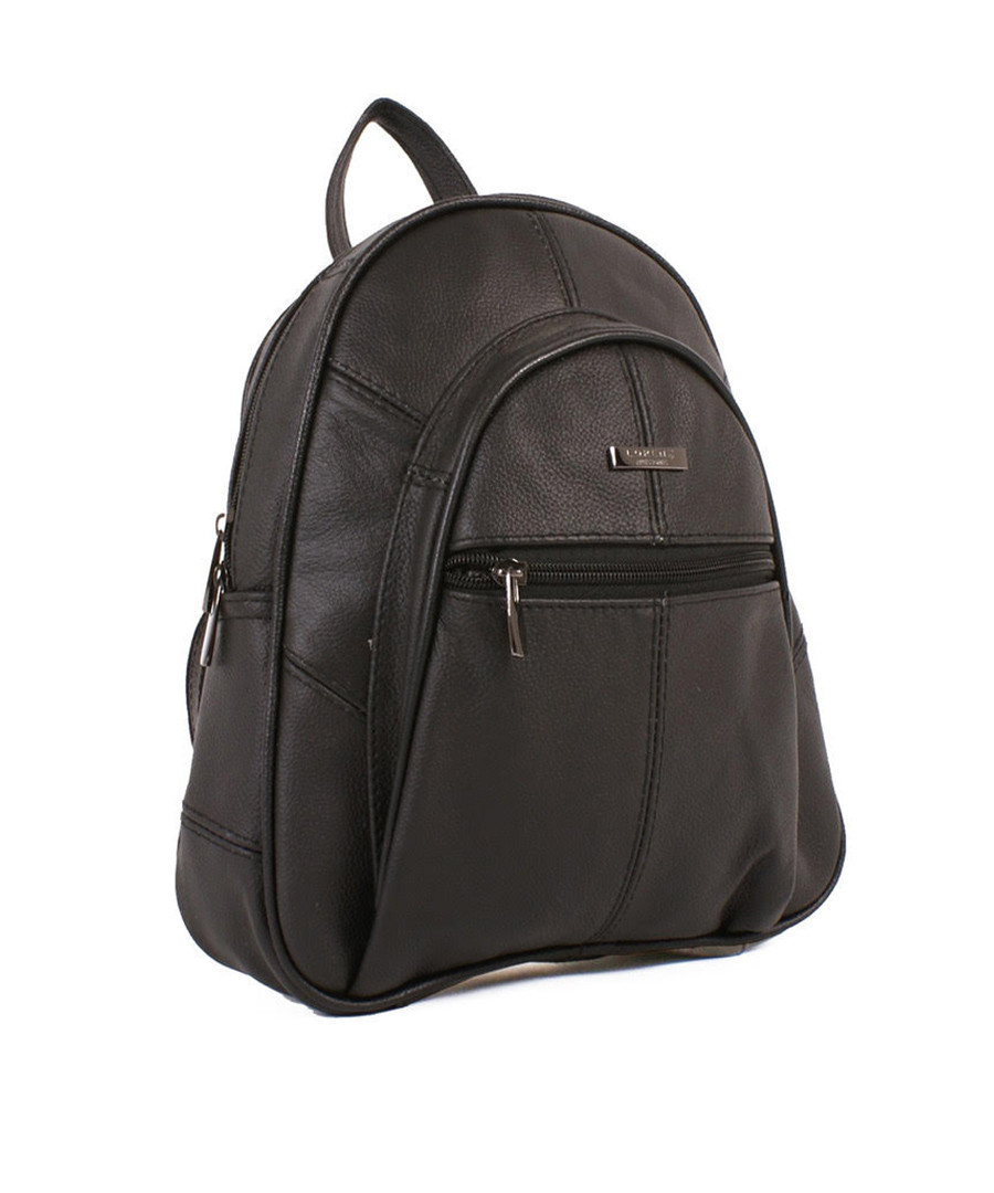 Black leather zip-around backpack Sale - woodland leather