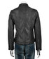 Women's black leather high-neck jacket Sale - woodland leathers Sale