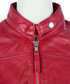 Women's red leather high-neck jacket Sale - woodland leather Sale