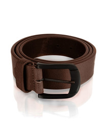 Men's burgundy leather belt