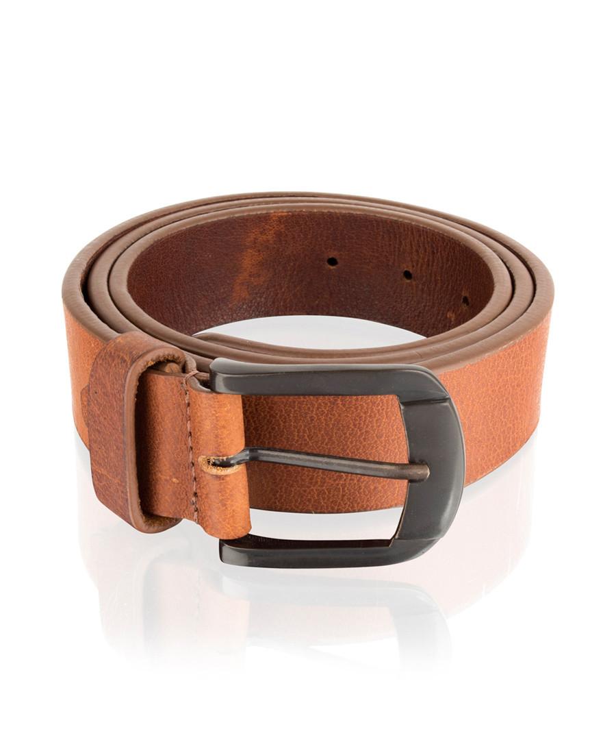 Men's tan leather belt Sale - woodland leather