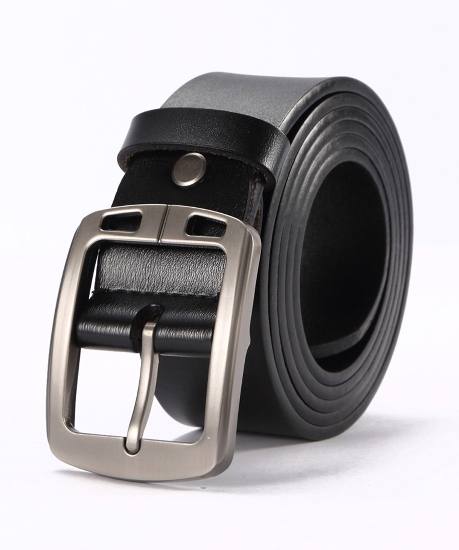 Men's black leather belt Sale - woodland leathers