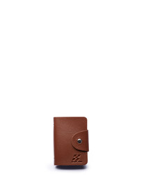 Brown leather 24-card wallet