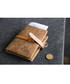 Brown leather flap wallet Sale - hautton Sale