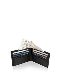 Black leather bi-old wallet