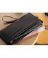Black leather zip-around wallet Sale - hautton Sale