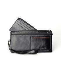 Tan zip-top wallet
