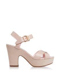 Iyla blush patent strappy heels
