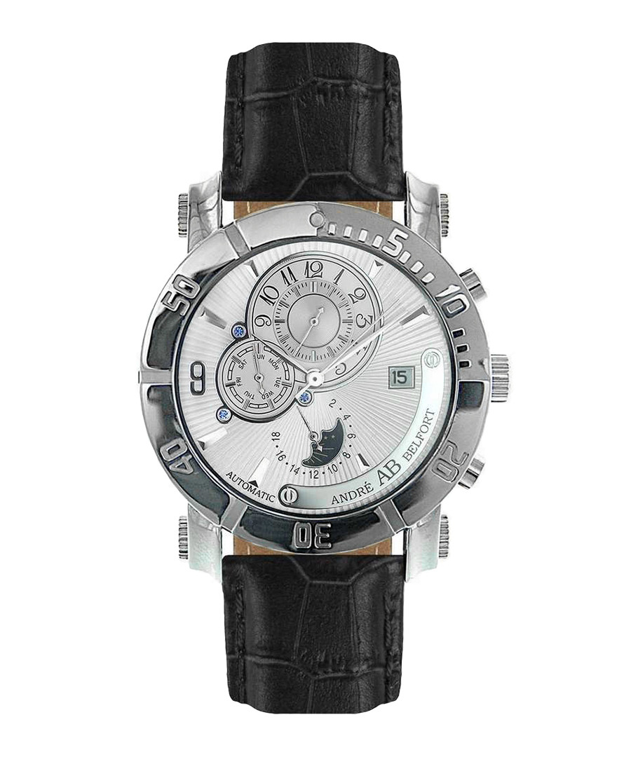 Andre Belfort Leather Watch