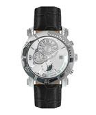Terra Nova black leather watch