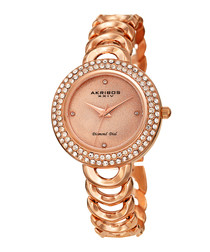 Rose gold-tone numberless watch