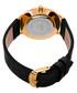 Black & gold-tone leather numeral watch Sale - akribos XXIV Sale