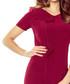 Maroon ruffle seam pencil mini dress Sale - bergamo Sale