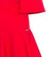 Red cape sleeve ruffle hem midi dress Sale - bergamo Sale