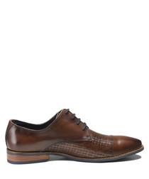 Arturo marron leather lace-up shoes