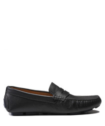 Emilio black leather loafers