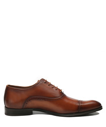 Ernesto tan leather lace-up shoes