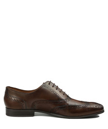 Isacco marron leather lace-up shoes