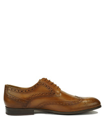 Riccardo tan leather lace-up shoes