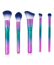 5pc Holo Purple make-up brush set