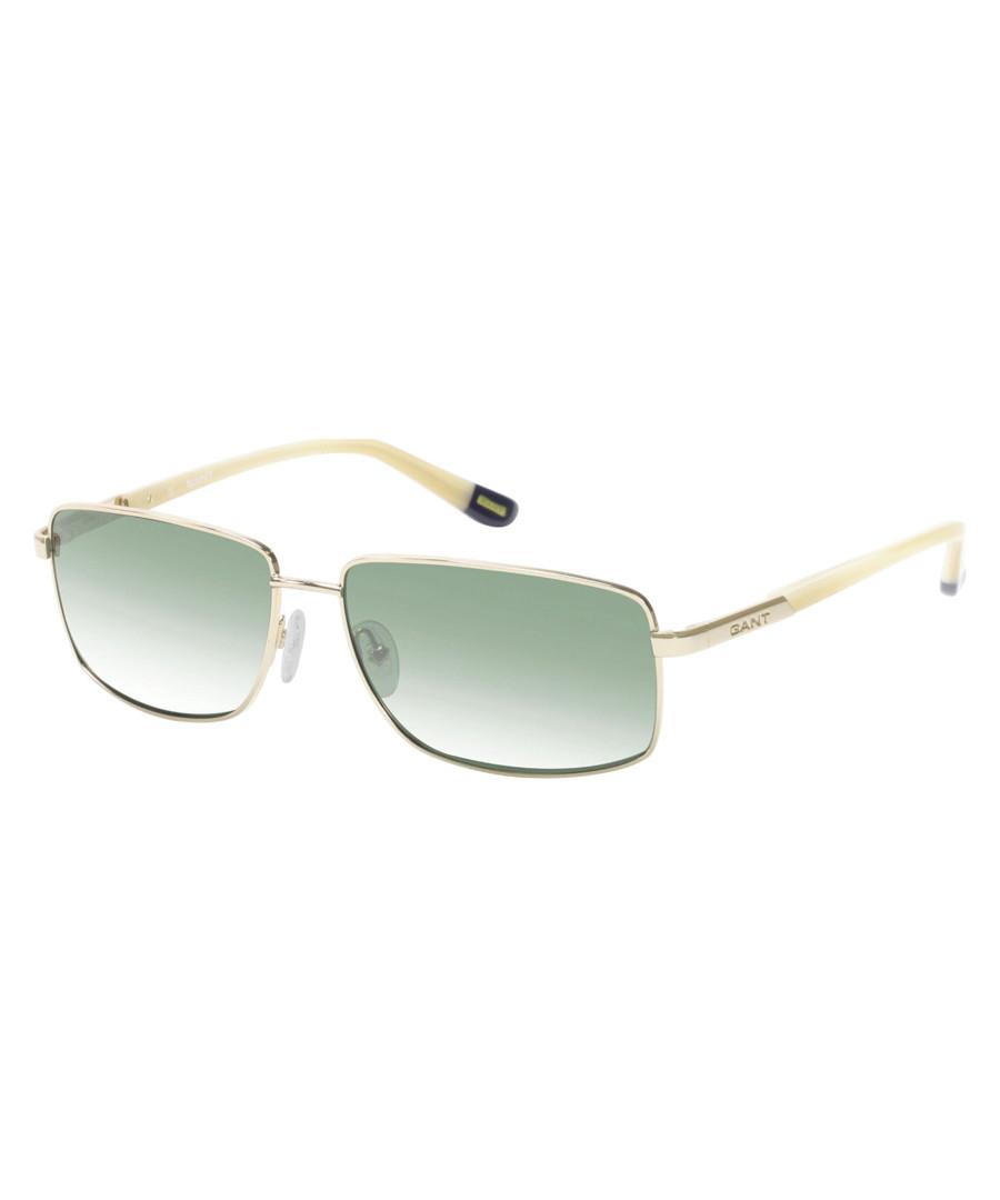 White & grey rectangular sunglasses Sale - gant