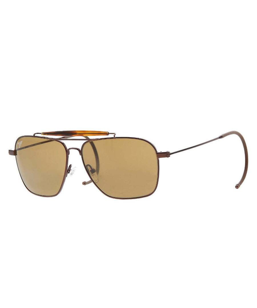 Brown thin frame sunglasses Sale - gant