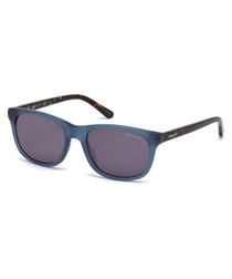 Blue & grey frame sunglasses