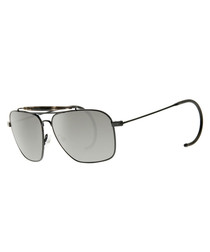 Grey & silver rounded stem sunglasses